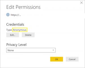 Permissions settings