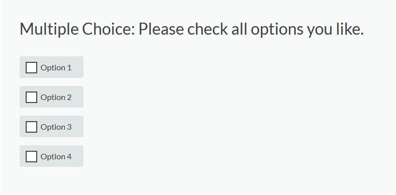 Multiple Choice survey element