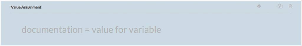 value assignment survey element