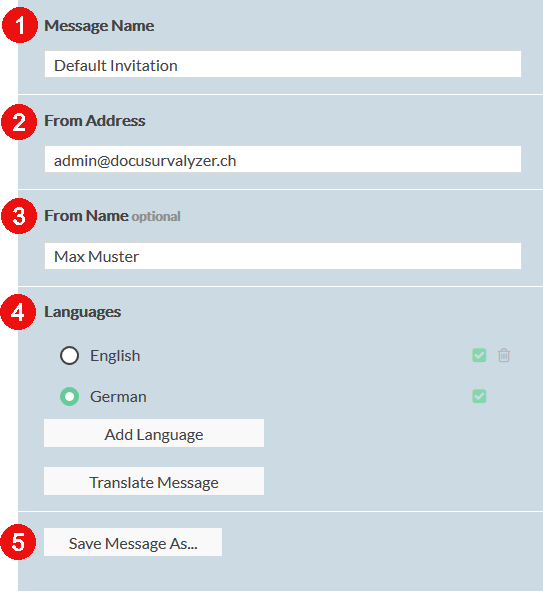 invite respondents using the right setting in the right side bar options