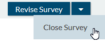 closed survey status caused by close survey