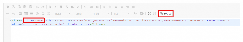 source code to add a video