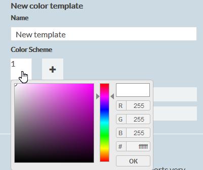 template color picker