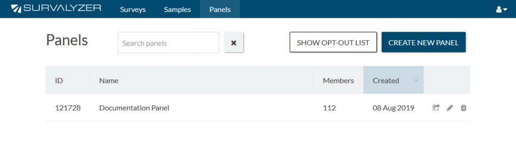 Panel Management