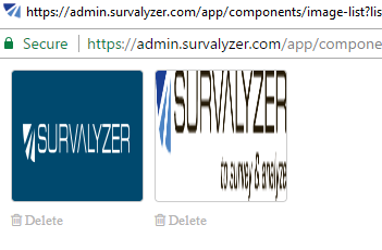 choose image from library to add image to survey