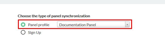 panel profile setting