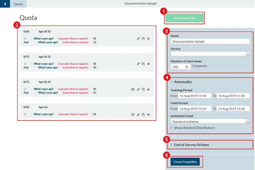 smart sampling: Overview of smart sample settings